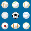 Stock Vector: Sport ball icon set