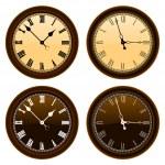 Classic wall clock vector — Stock Vector