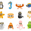 Royalty-Free Stock Imagen vectorial: Cartoon marine life