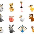 Vector de stock : Cartoon farm animal