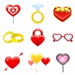 Royalty-Free Stock Vector Image: Valentine high quality icons
