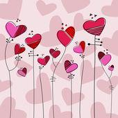 Heart style flowers — Stock Vector