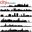 City silhouettes — Stock Vector