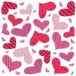 Stock Vector: Heart seamless pattern
