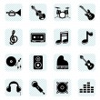 Music icons — Stock Vector #7145928