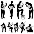 Royalty-Free Stock Vector Image: Musician silhouette