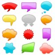 Colorful talk bubbles — Stock Vector