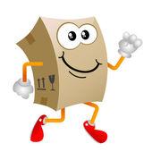 Cardboard cartoon character — Stock Vector