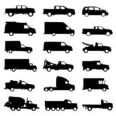 Truck set — Stock Vector
