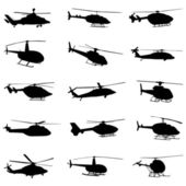 Helicopter set — Stock Vector
