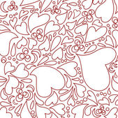Heart seamless pattern — Vettoriale Stock