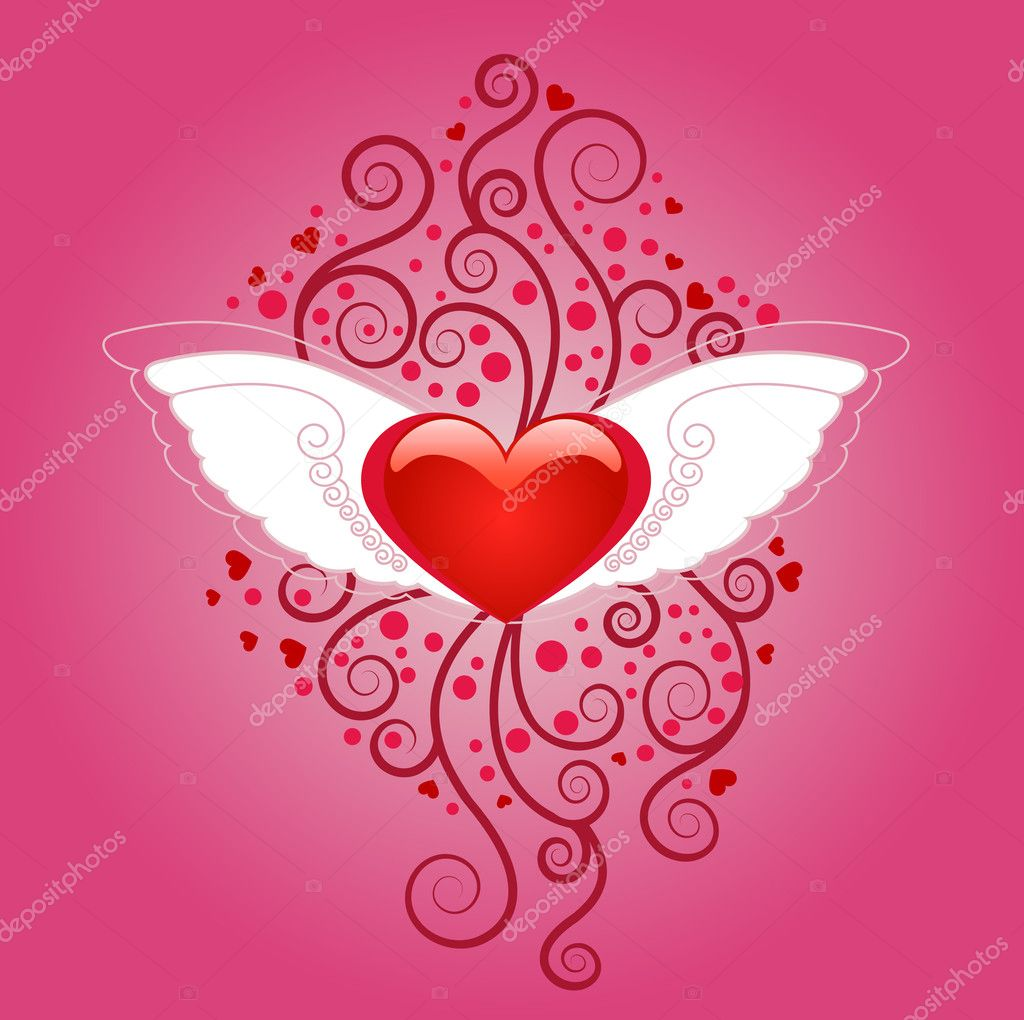Abstract valentines day design  Stock Vector #7145655