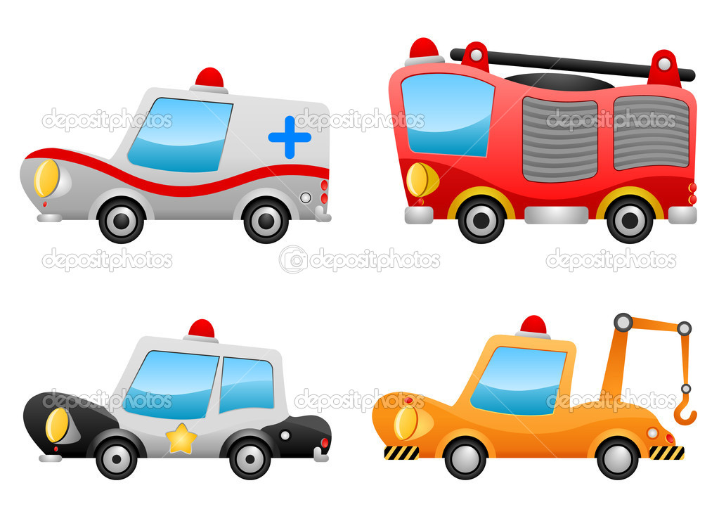 Set of vehicle illustrations — Stock Vector #7145727