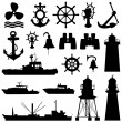 Nautical elements — Stock Vector #7219144