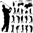 Set of golf vector - Stock Vector