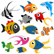 Vector de stock : Cartoon fish