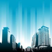 Modern binalar — Stok Vektör