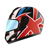 Motorcycle helmet vector — Stock Vector