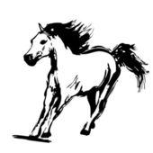 Diseño de caballo — Vector de stock