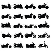 Conjunto de motocicleta — Vetor de Stock