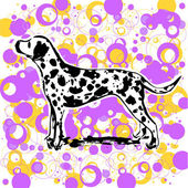 Dalmatian design — Stock Vector