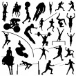 Olympic sport silhouettes — Stock Vector #7322899