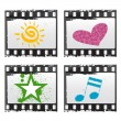 Royalty-Free Stock Vector Image: Film with symbols