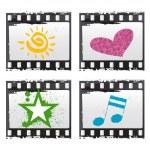 Film with symbols — Stock Vector