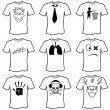 T shirt set — Stock Vector