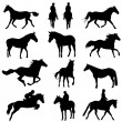 Horse set — Stock Vector #7322961