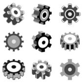 Gear wheel icons — Stock Vector