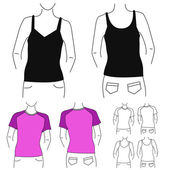 Clothes template — Stock Vector