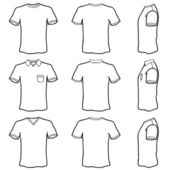 Blank t shirt set — Stock Vector