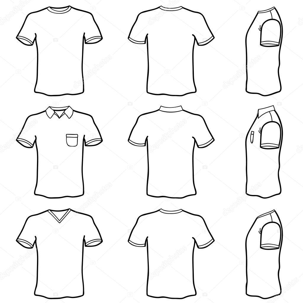 Tee Shirt Design Template Illustrator: Stock Vector © Bogalo #7322941