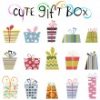 Stock Vector: Cute gift box