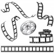 Set of film and roll — Stock Vector