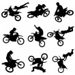 Stock Vector: Motor cross freestyle