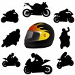 Motorcycle silhouette — Stock Vector #7406430