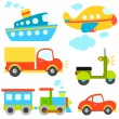 Cartoon vehicles — Vector de stock #7406445