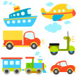 Vettoriale Stock : Cartoon vehicles