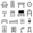 Furniture icon — Stock Vector