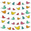 Decorative pattern with birds — Stockvektor