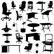 Stock Vector: Office furniture