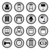 Botones de muebles — Vector de stock