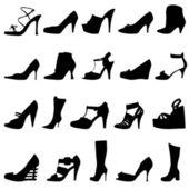 мода женская обувь — Cтоковый вектор