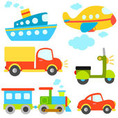 Cartoon vehicles — Stock Vector