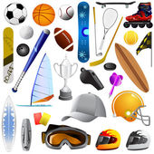 Sport items — Stock Vector