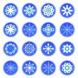 Snowflake icons — Vector de stock