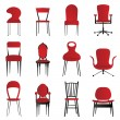 Red chairs — Stock Vector #7514202