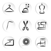 Tailoring icons — Stock Vector